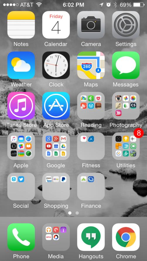 My iPhone homescreen setup.