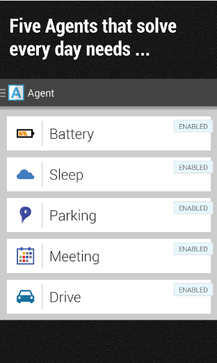 Agent app on Android.