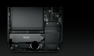 Apple home button Taptic engine placement.