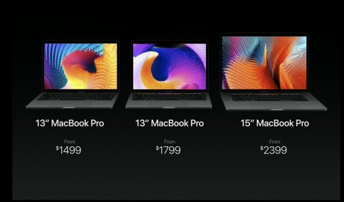 Late 2016 MacBook lineup as of October, 2016.