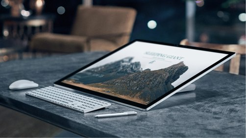 Microsoft Surface Studio declined to 20 degrees.